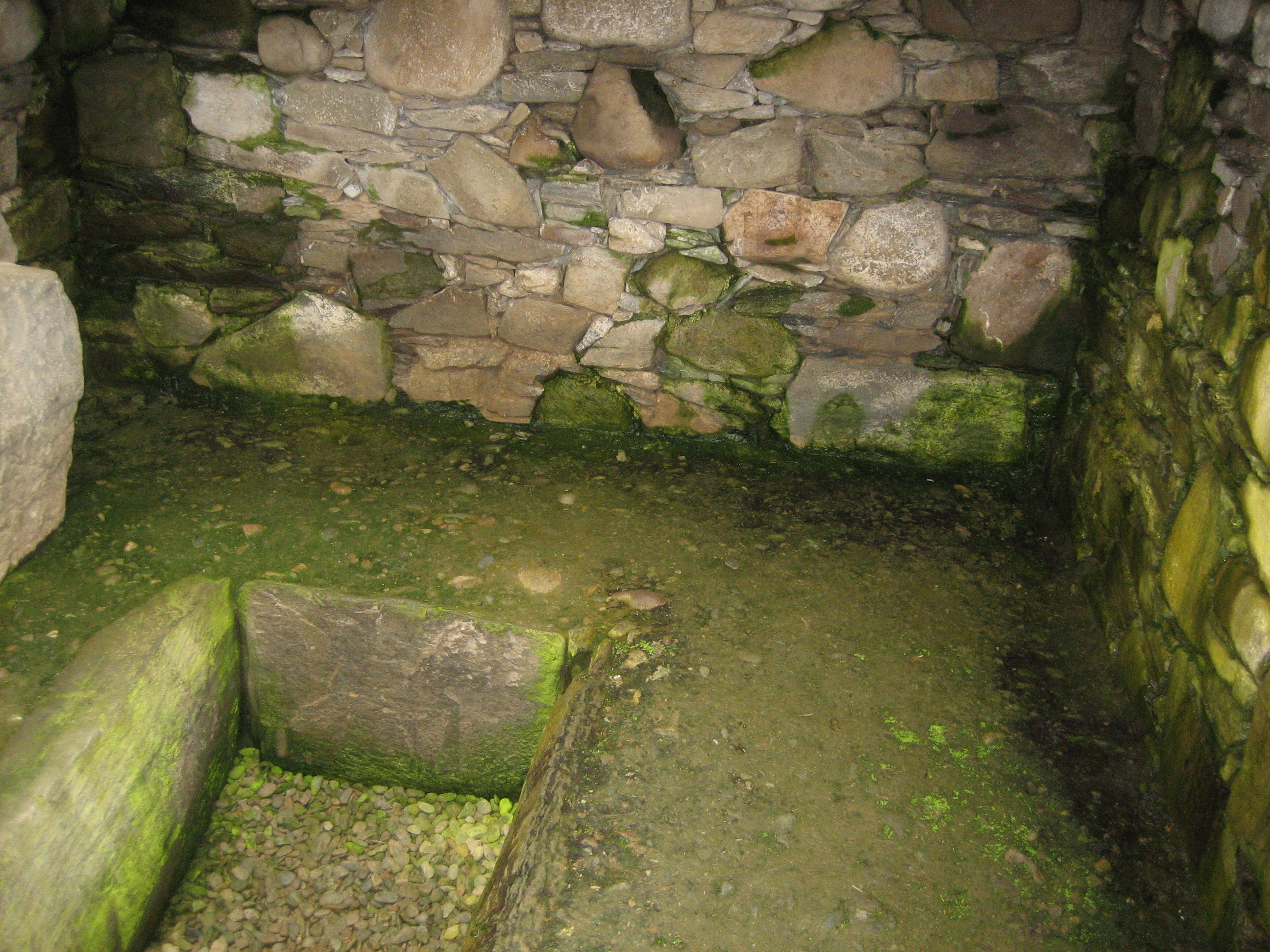 Cist in the floor of the Nether Largie Cairn