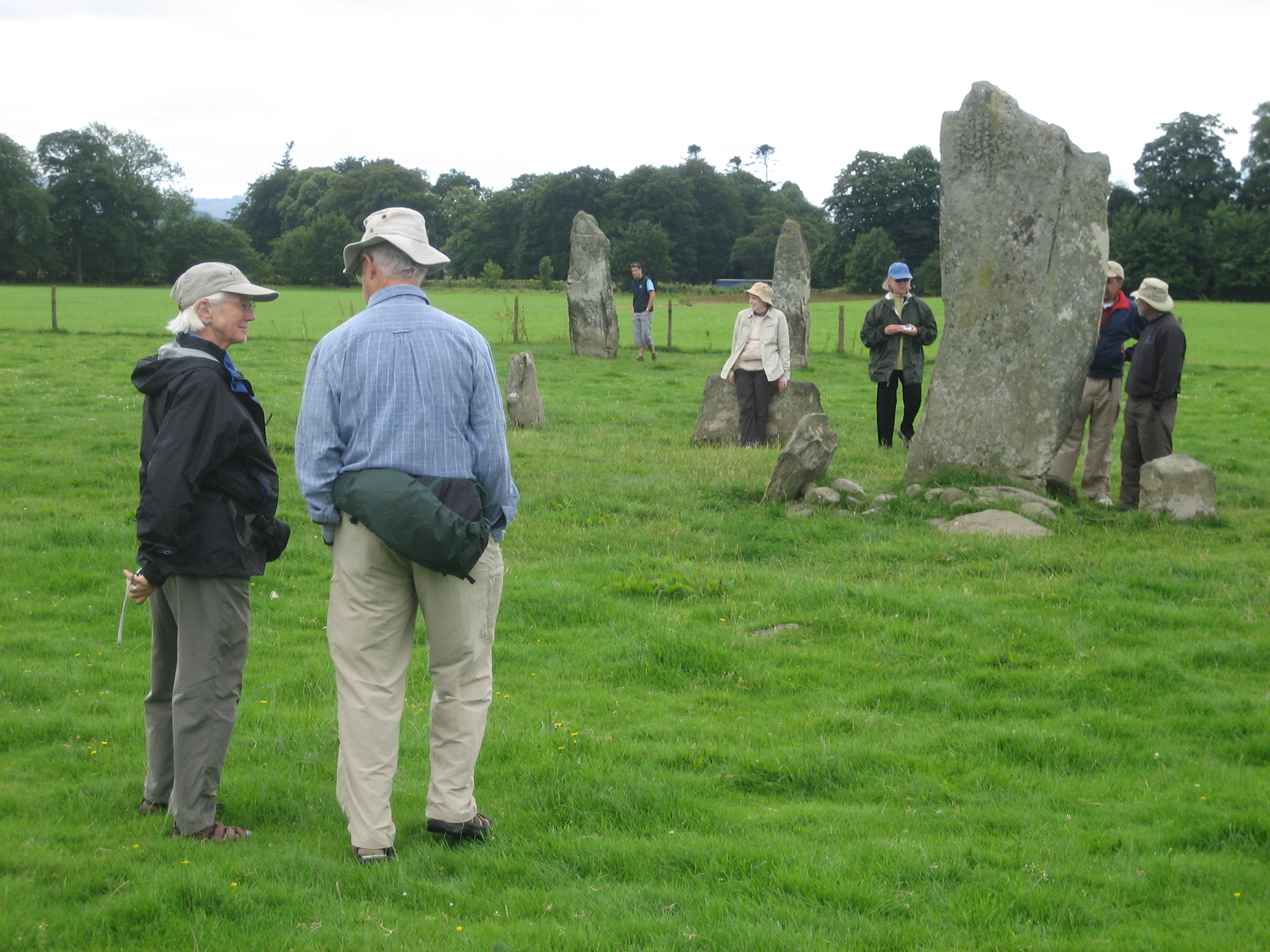 Standing stones near Nether Largie South Cairn