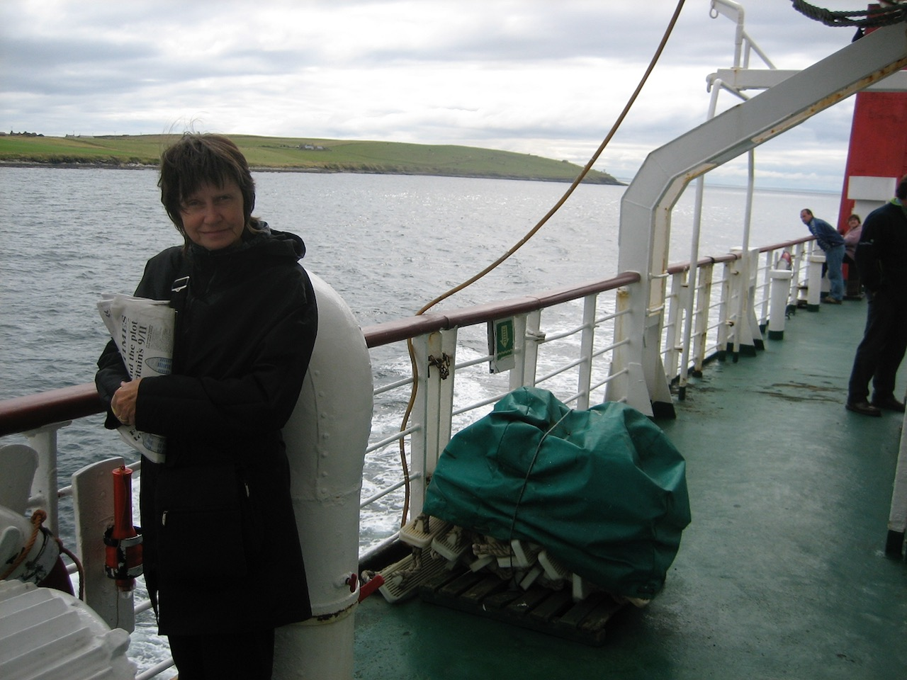 Into Scapa Flow on the way to St Margaret's Hope