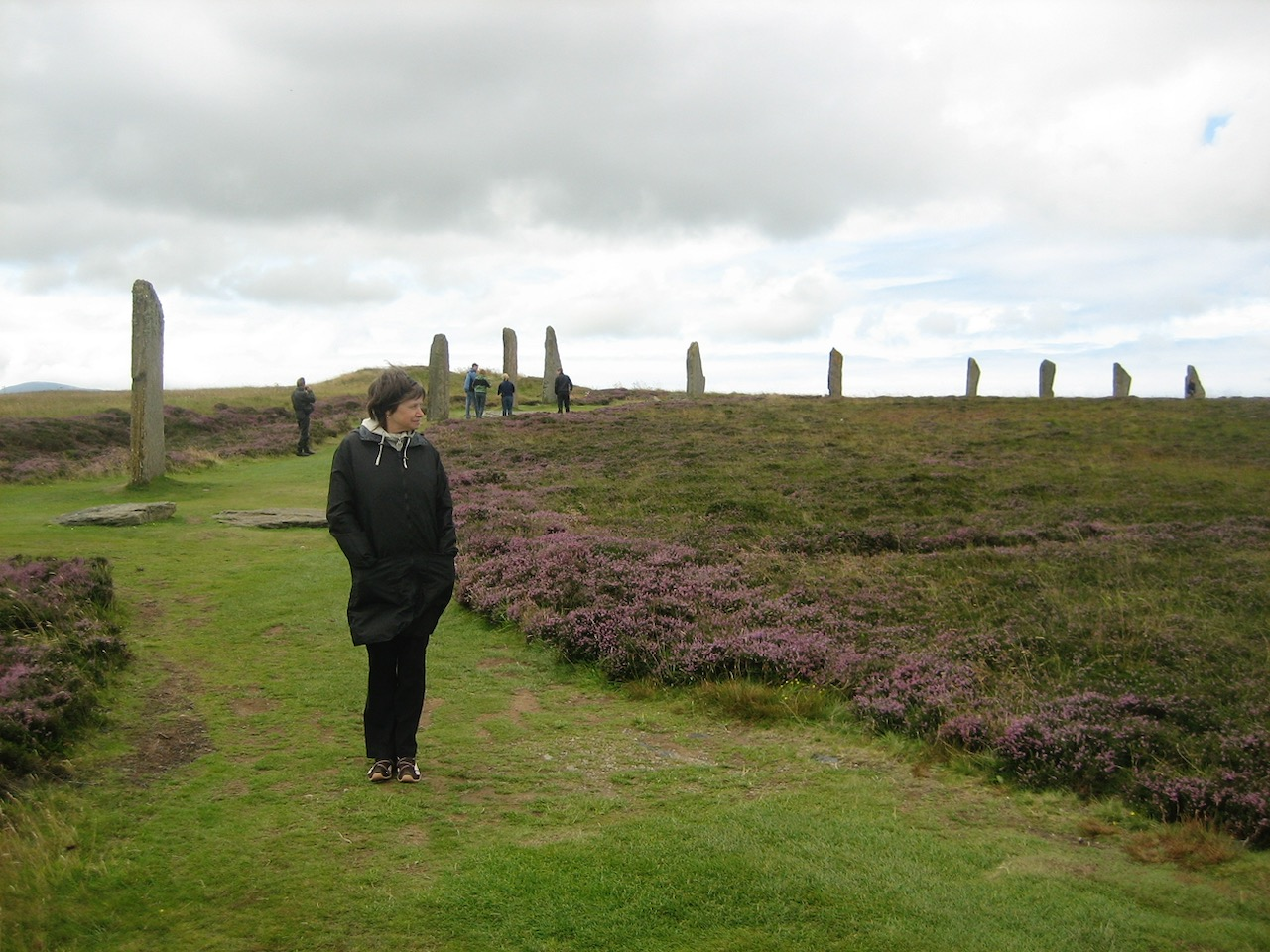 The Ring of Brodgar, standing stone and henge