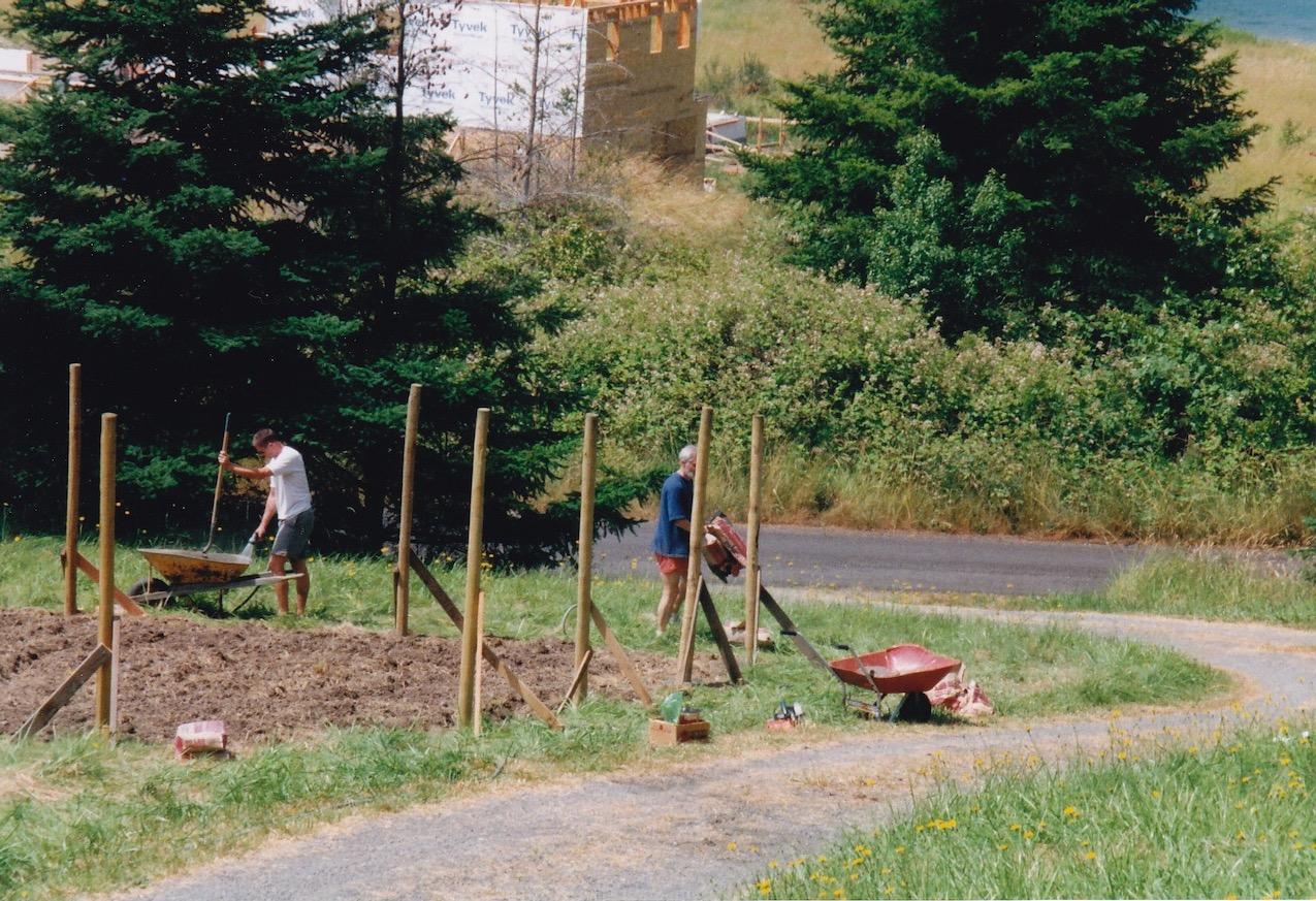 Beginning work on Yvonne's garden