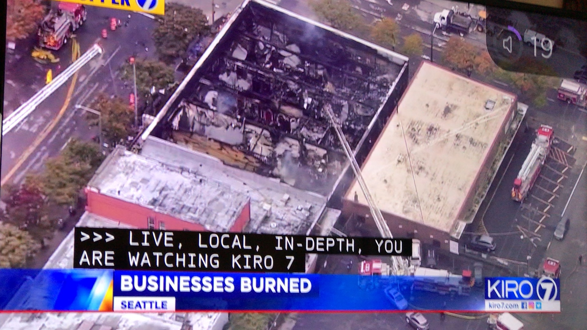 KIRO 7 Live from the scene