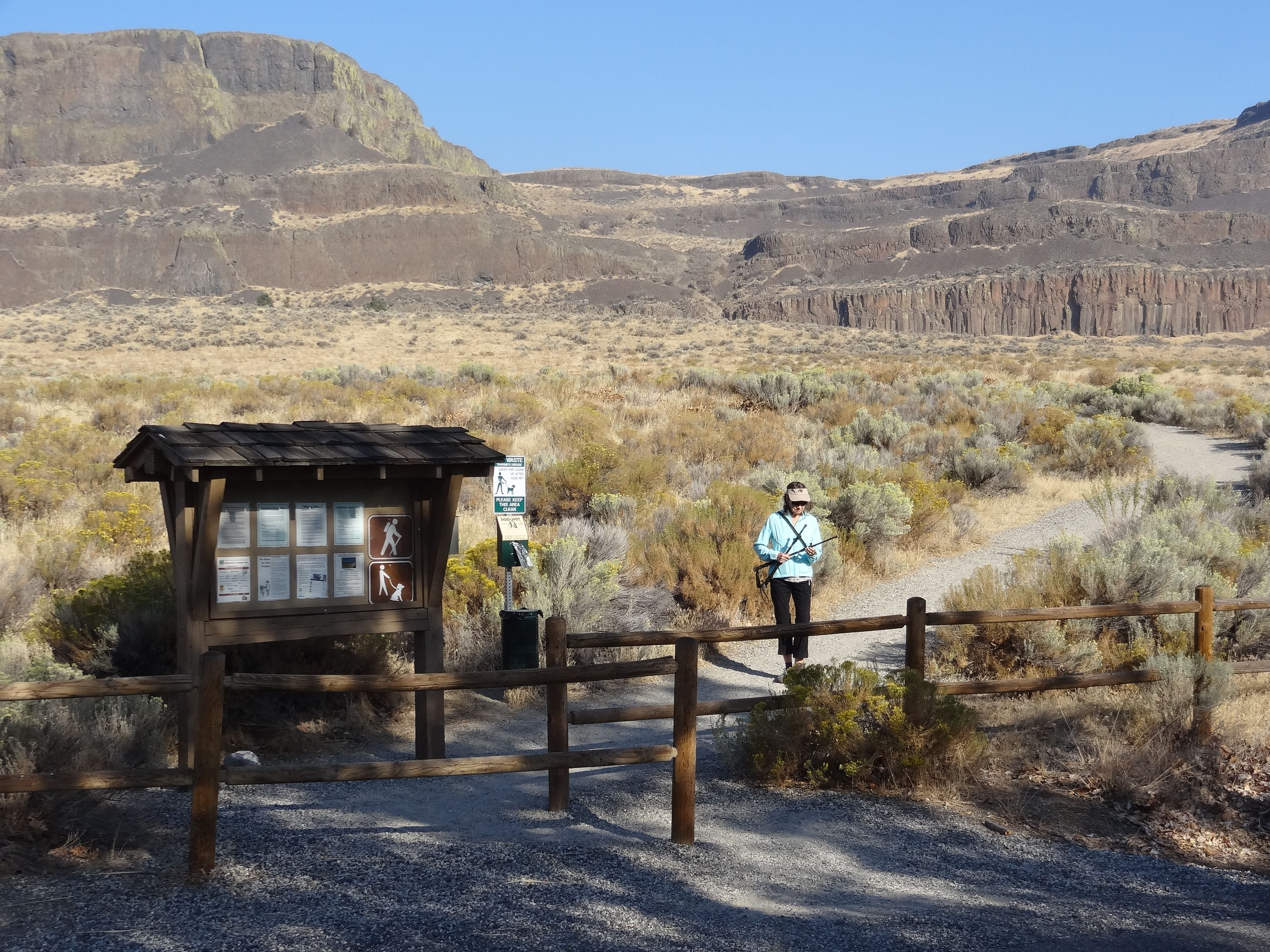 Steamboat Rock trailhead at the campgound