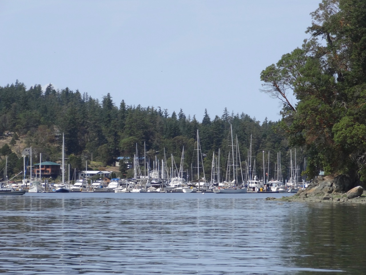 Approaching Deer Harbor from the south