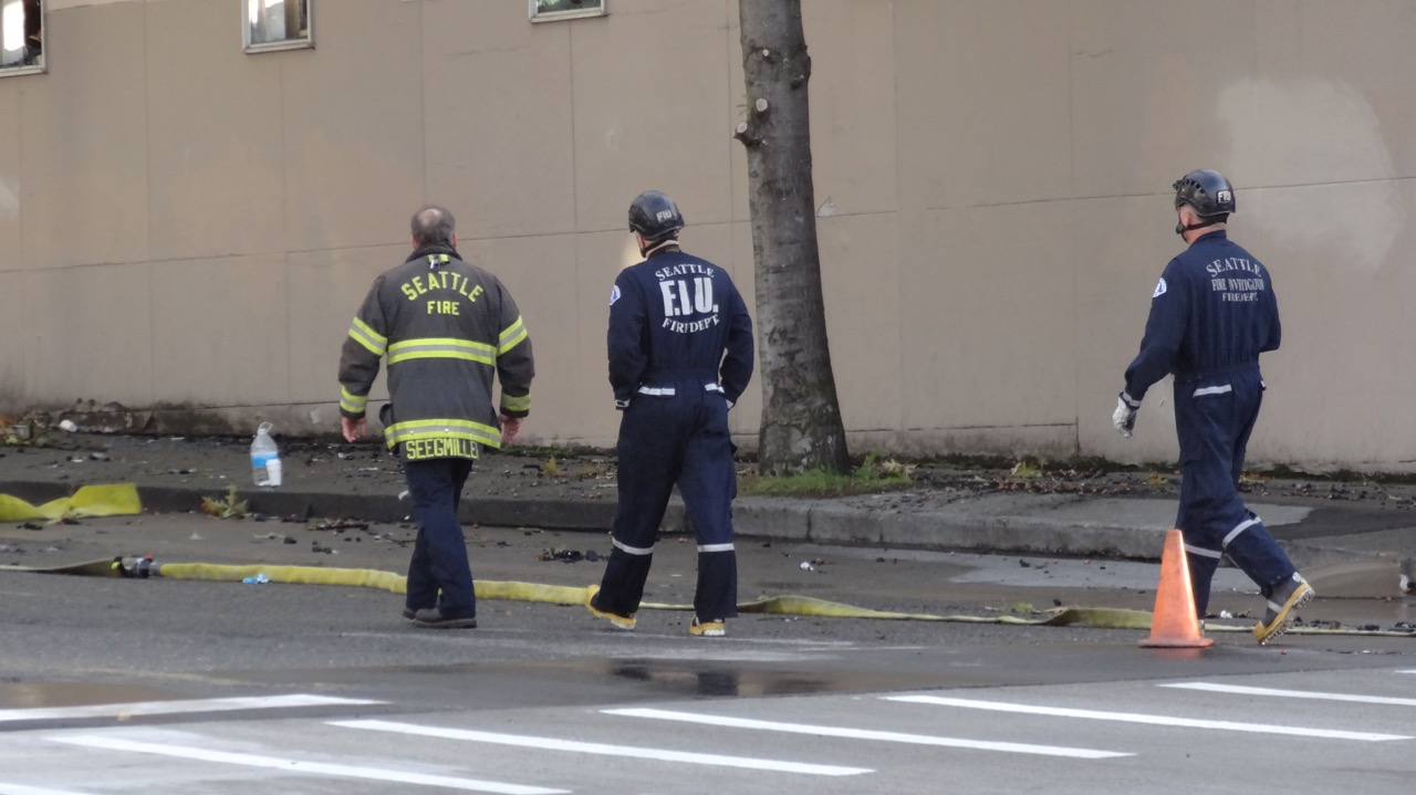 FIU on the job. Maybe the findings can help prevent a future fire somewhere.
