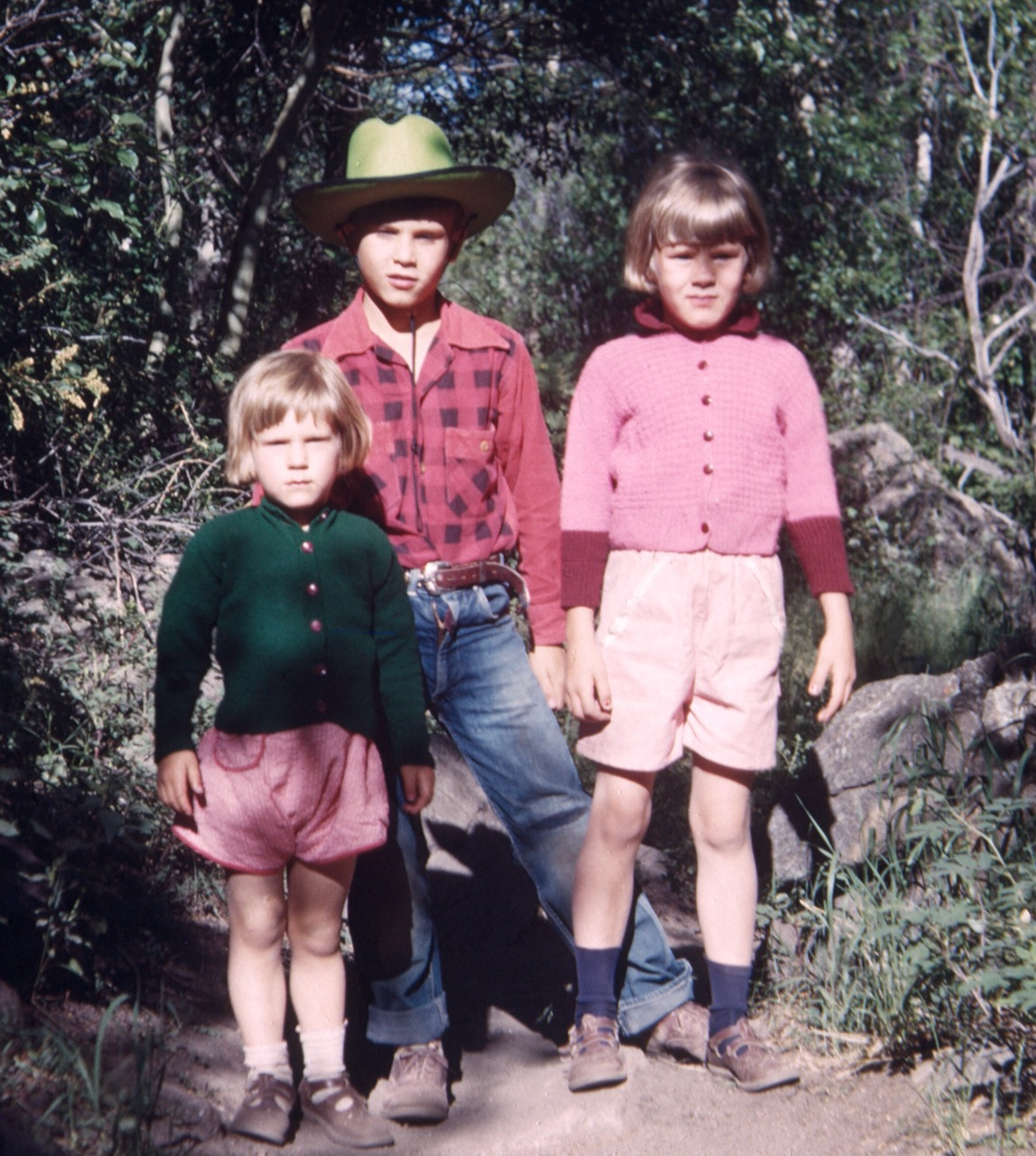 In Estes Park in 1953. Here with my two sisters, Julie and Marcy