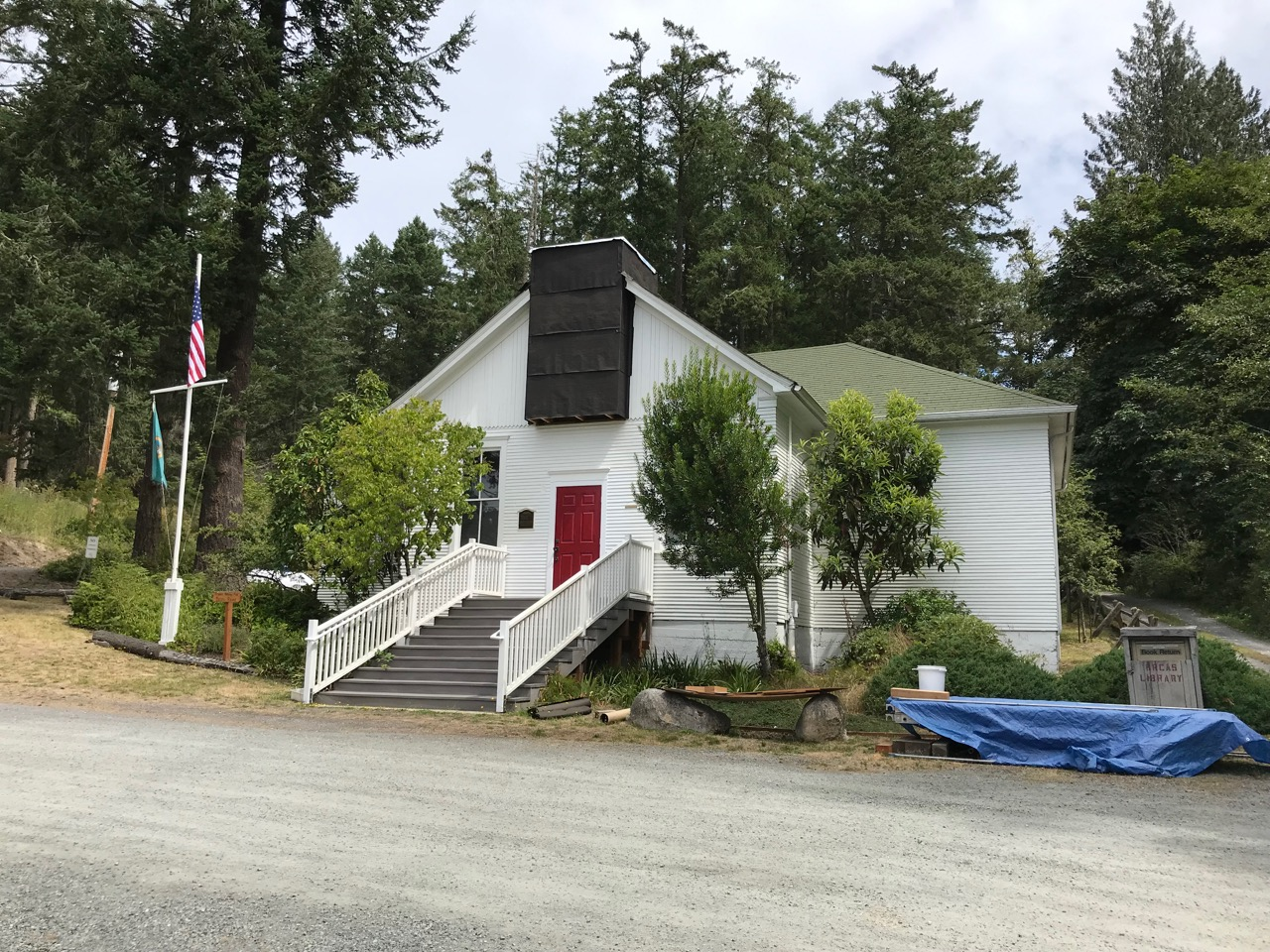 Deer Harbor historic school and community club building