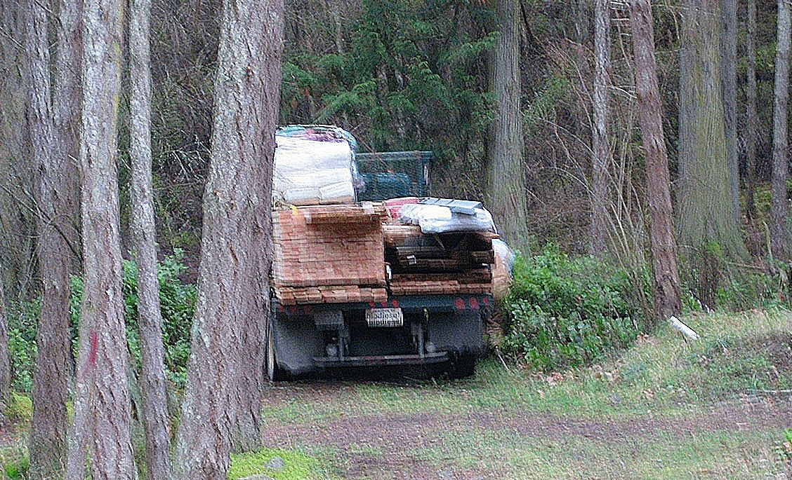 Building supplies arrive from Orcas Island